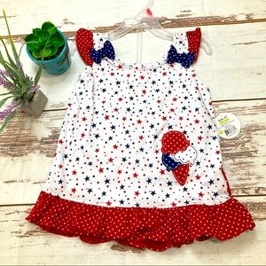 NWT🎆4th of July Outfit🎆Swiggles Sz 4T